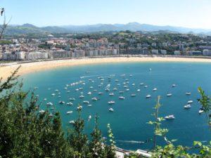 San Sebastian, plage, Espagne, paysage