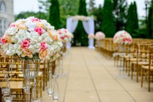 Allée, Bloom, Fleur, Bouquet, Célébration, Chaises
