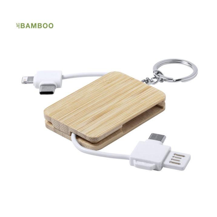 Câble chargeur bambou personnalisé